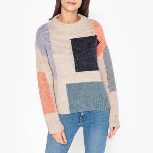 Пуловер с круглым вырезом из трикотажа MIKE BERENICE. Цвет: разноцветный