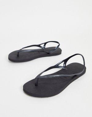 Черные сандалии Sunny II-Черный Havaianas