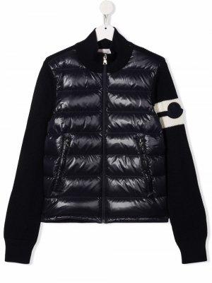 Quilted puffer jacket Moncler Enfant. Цвет: синий