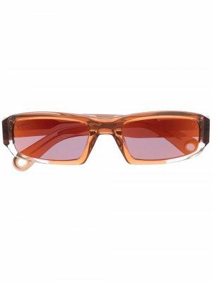 Square frame sunglasses Jacquemus. Цвет: коричневый