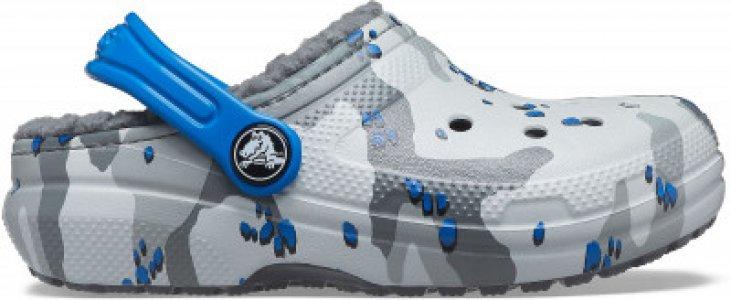 Шлепанцы для мальчиков ClassicLinedCamoCgK, размер 36-37 Crocs. Цвет: серый