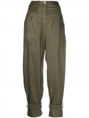 Зауженные брюки Lucky Zimmermann. Цвет: зеленый