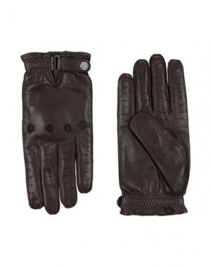 Перчатки CORNELIANI ID. Цвет: темно-коричневый