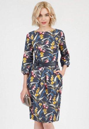Платье Olivegrey DAYAN. Цвет: синий