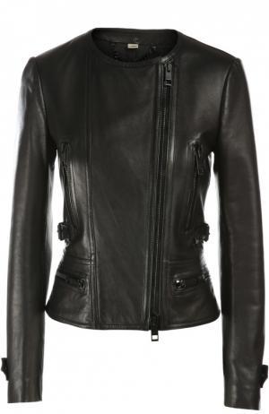Куртка кожаная Burberry. Цвет: черный