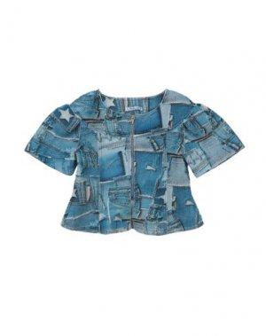 Пиджак MIMISOL. Цвет: лазурный