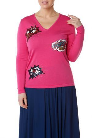 Пуловер LE FATE. Цвет: розовый