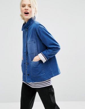 Джинсовая куртка Monki. Цвет: синий