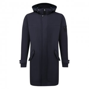 Утепленное пальто Bogner. Цвет: синий