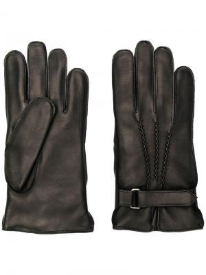Перчатки с ремешком Orciani. Цвет: черный