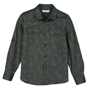 Рубашка LaRedoute. Цвет: зеленый