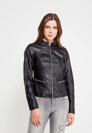 Куртка кожаная Dorothy Perkins DO005EWAMMQ7. Цвет: черный