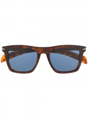 Солнцезащитные очки в квадратной оправе Eyewear by David Beckham. Цвет: коричневый