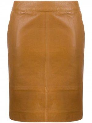 Юбка мини с боковыми карманами Gestuz. Цвет: коричневый