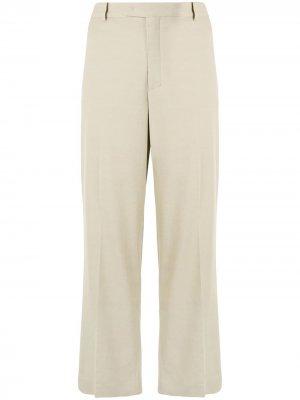 Укороченные брюки широкого кроя с завышенной талией Giambattista Valli. Цвет: нейтральные цвета