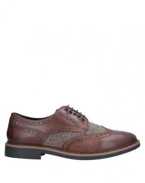 Обувь на шнурках BASE London. Цвет: темно-коричневый
