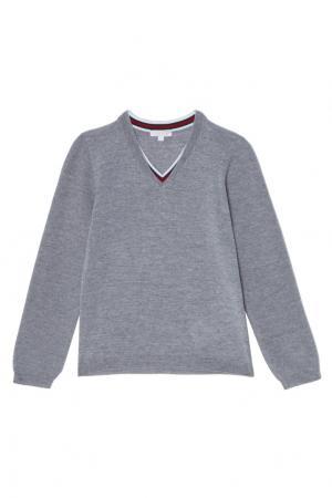 Серый пуловер Gucci Kids. Цвет: серый