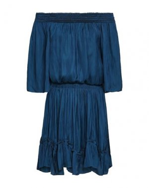 Короткое платье HALSTON. Цвет: темно-синий