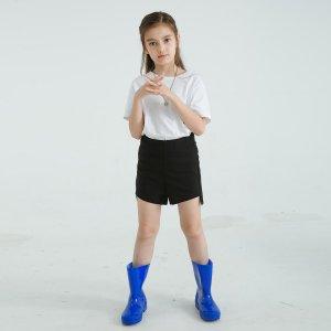 1 пара Детские резиновые сапоги SHEIN. Цвет: синий