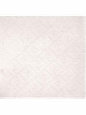 Шаль с жаккардовым логотипом FF Fendi. Цвет: белый