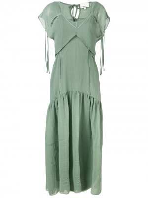Cutout Textured Silk Dress 3.1 Phillip Lim. Цвет: синий