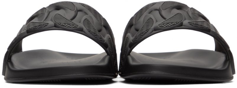 Black Chain Reaction Pool Slides Versace. Цвет: d41 black