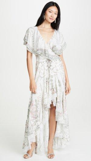 Frill Sleeve Long Dress Camilla