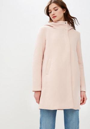 Пальто Only. Цвет: розовый
