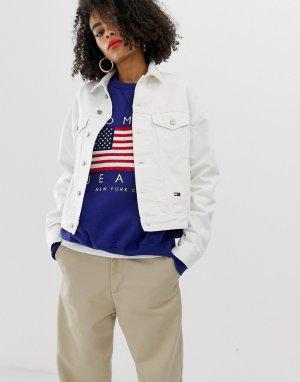 Джинсовая куртка с логотипом -Белый Tommy Jeans