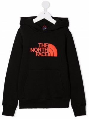 Худи с логотипом The North Face Kids. Цвет: черный