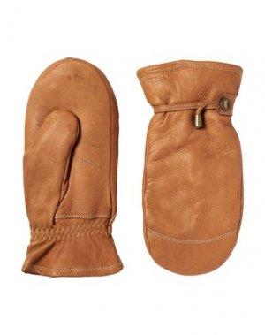 Перчатки HESTRA. Цвет: коричневый