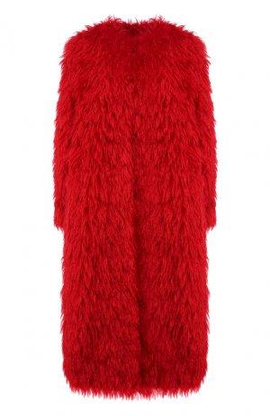 Пальто из смеси шерсти и хлопка Valentino. Цвет: красный