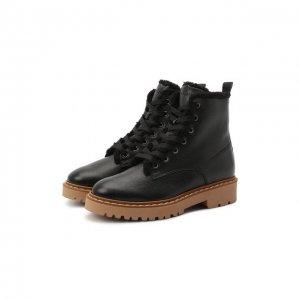 Кожаные ботинки H543 Hogan. Цвет: чёрный
