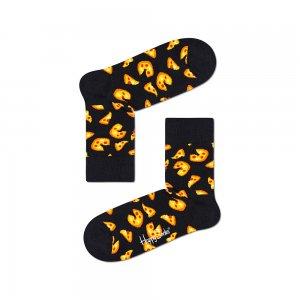 Pizza Half Crew Socks Happy. Цвет: черный