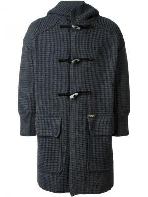 Пальто-дафлкот с капюшоном Bark. Цвет: серый