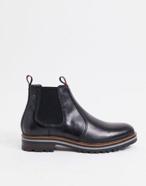 Ботинки челси из черной вощеной кожи -Черный Base London