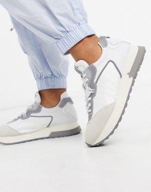 Бело-серые кроссовки для бега -Серый Ash