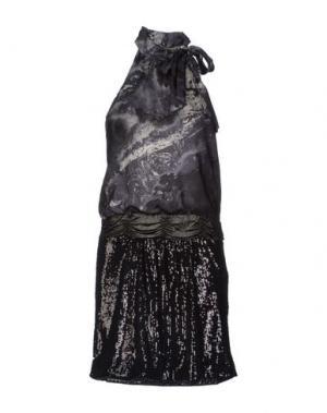 Короткое платье ALICE SAN DIEGO. Цвет: стальной серый