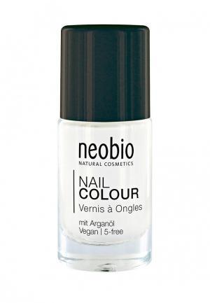 Лак для ногтей Neobio №07 5-FREE, с аргановым маслом. Французский маникюр. Цвет: прозрачный