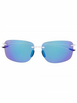 Солнцезащитные очки в квадратной оправе Maui Jim. Цвет: синий