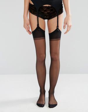 Набор с чулками и поясом Seduction-Черный цвет Jonathan Aston