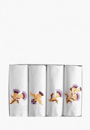 Комплект салфеток сервировочных Bellehome. Цвет: белый