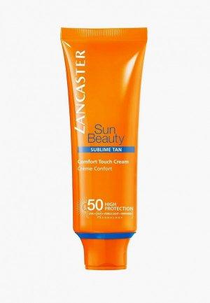 Крем солнцезащитный Lancaster Sun Beauty Care сияющий загар spf 50, 50 мл. Цвет: прозрачный