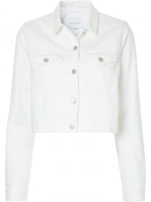 Укороченная джинсовая куртка Nobody Denim. Цвет: белый