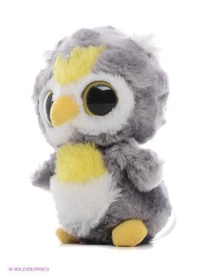 Юху и друзья Игрушка мягкая Сова 12см AURORA. Цвет: светло-серый, коричневый