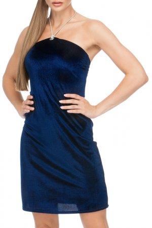 Платье пляжное Lora Grig. Цвет: темно-синий