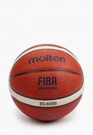 Мяч баскетбольный Molten 6. Цвет: коричневый