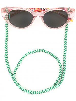 Солнцезащитные очки на шнурке M Missoni. Цвет: розовый