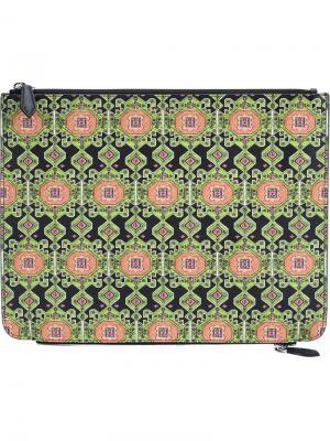 Клатч с ковровым принтом Givenchy. Цвет: чёрный