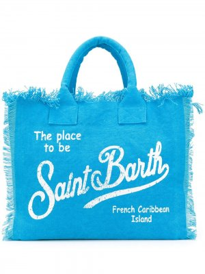 Пляжная сумка-тоут Vanity Mc2 Saint Barth. Цвет: синий